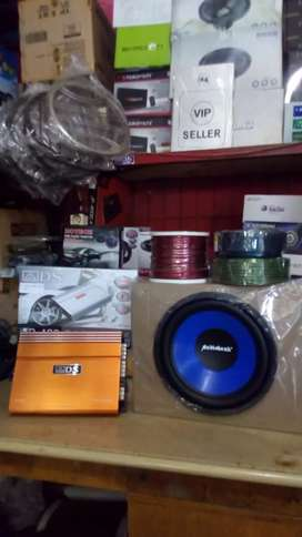 Subwoofeer 12 inchi+Box sub mdf+Power 4 chnl+Tweter+Psang