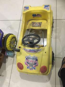 Kids car in yellow colour