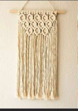 Macrame hanging home decor