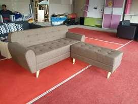 Ready stock.! sofa retro + puff panjang