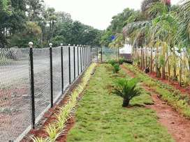 Open plots for sale at chelluru, 1km from highway