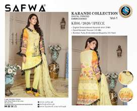 KR  SAFWA DIGITAL KARANDI 3 PIECE COLLECTION 2020