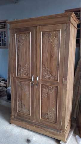 Lemari Dua Pintu - Kayu Jati