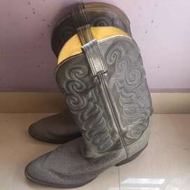 Mens gator tail print waterproof cowboy boots ( original made in usa)