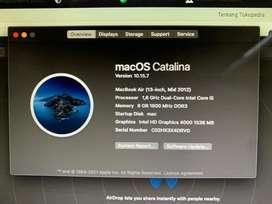 Macbook Air 13 inch Mid 2012 Mulus