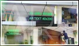 Lampu Running Text lampu berjalan Seri p10 Outdoor Garansi 1 Tahun