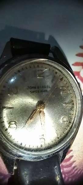 JOHN BARREL SWISS MADE WATCH WORKING