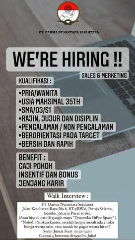We're Hiring Sales & Marketing