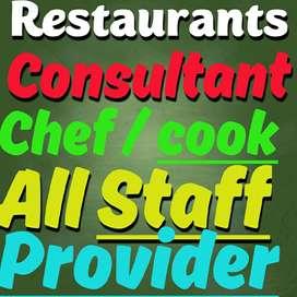 new restaurant setup staff cook--waiter --chef consultant