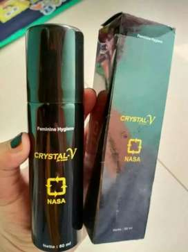 CRYSTAL V SPRAY FEMININE HYGINE Produk Original Terbaru Nasa Herbal.