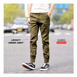 Legacy Jogger Pants - JOGGER INDONESIA - Simple Green Army