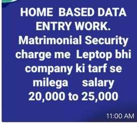 Data entry home based work
