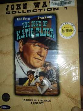 vcd film original john wayne collection satu paket 2 judul film segel
