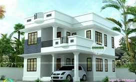 New 1500 sqft 3 bhk new build house at elamakkara near karukapally