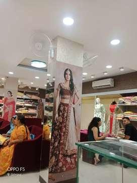 Sales and marketing saress showroom