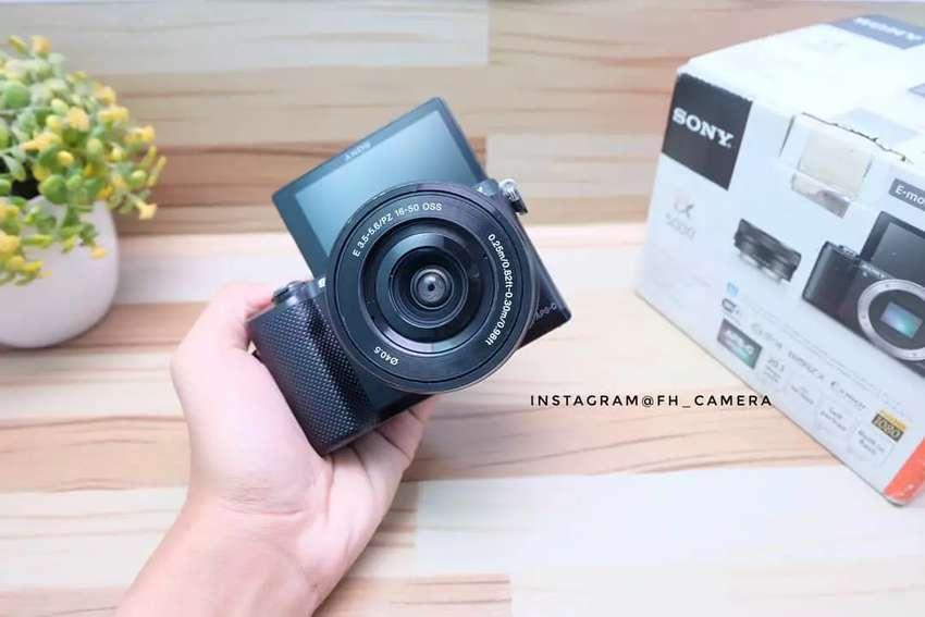MIRRORLES SONY A5000 kit black fullset murah 0