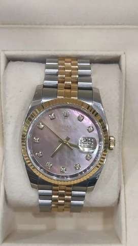 Original Rolex datejust two-tone MOP diamond dial Complete set avail
