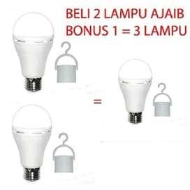 Sunsafe 9 Wat Lampu Emergency Lampu Ajaib Cahaya Putih Beli 2 Gratis 1