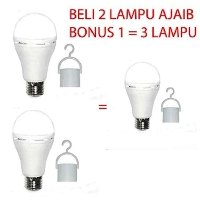 Sunsafe 9 Wat Lampu Emergency Lampu Ajaib Cahaya Putih Beli 2 Gratis 1 0