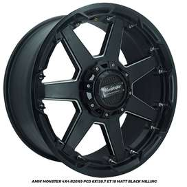 Velg Everest Fortuner Pajero Triton Monster  R20x9 hole 6x139.7 ET 18