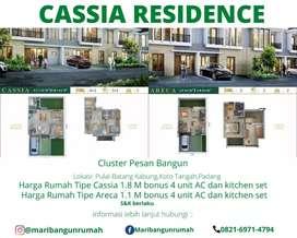 Rumah cluster pesan bangun fasilitas lengkap
