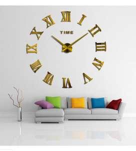 Jam diy giant wall dengan diameter 80-130 cm Romawi Gold