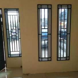 Menerima pembuatan teralis jendela besi dan pagar