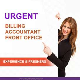 Wanted front office staff and Billing staff