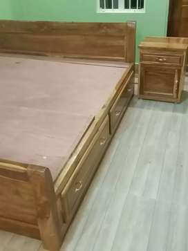King Size Bed (teak wood)