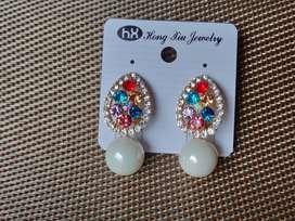 Fashion Gold Plated Diamond Stud Earring