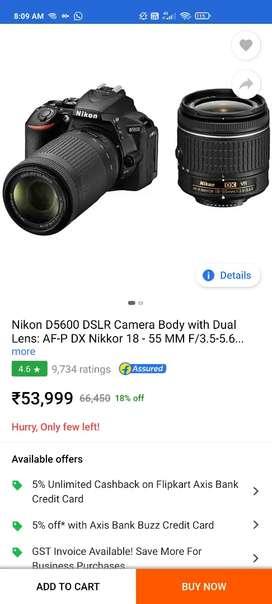 Camera dslr 5600