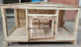 Strong Wooden cages are available in different sizes