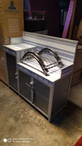 rak piring dan meja kompor serbaguna