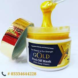 Gold Peal Off Mask