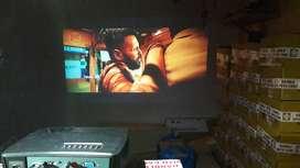 Interx led projector 3d 4k full hd usb hdmi bigscreen live tv 152 incs