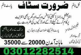 Staff require for jobs mens and womens