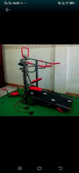 Jual treadmil manual 7in1