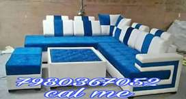 Brand new 5 seater sofa set with center table and puffy from manufactu