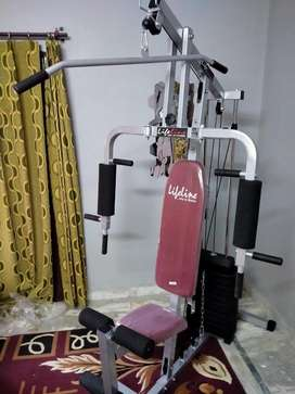 Home gym with 15 excercises lifeline brand with warranty of year