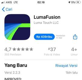 Lumafusion Aplikasi Editing Video Professional iOS iPhone iPad Spotify