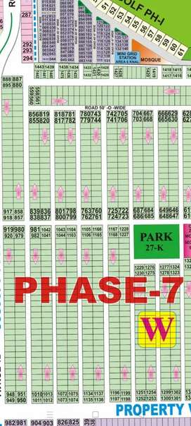 1 kanal plot for sale in DHA LHR phase 7 Block W  very good location