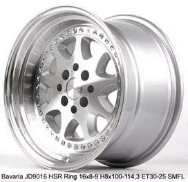 VELg racing ring16×8-9 HSRwheel dobel pcd 8×100/114,3 cicilan 0%