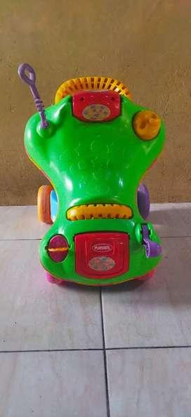 Baby walker 2 in 1 merk playskool step start walk and ride