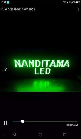 Running Text LED display#