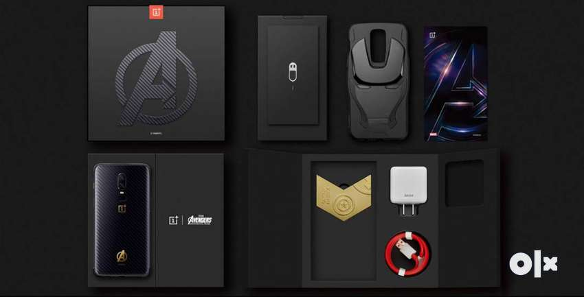 Avengers Edition OnePlus 6 (256gb - 8gb) Carbon fiber back glass 0