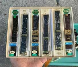 Strap kulit Jam Tangan made japan seiko mido omega vintage jadul