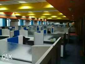 100 workstations 6 cabin conference reception pantry etc in sec 63