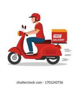 Urgent requirement delivery boy Biker part time