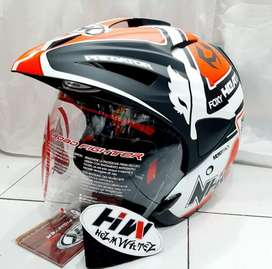 Helm nhk predator motif fox black dof mulus like new