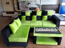 Sofa model L putus , bisa pilih warna